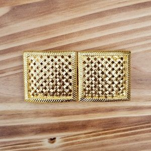 Vintage Paquette woven gold belt buckle